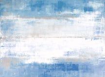 Pintura azul y gris del arte abstracto Fotos de archivo libres de regalías