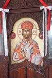 Pintura bizantina en la isla de Paros fotos de archivo