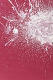 Pintura blanca reducida drásticamente en rojo Fotografía de archivo