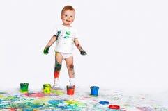 Pintura bonita do bebê Imagem de Stock