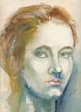 Pintura - chica joven 3 Foto de archivo