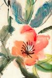 Pintura china colorida stock de ilustración