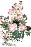 Pintura china tradicional foto de archivo libre de regalías