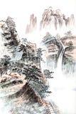 Pintura china tradicional, paisaje ilustración del vector