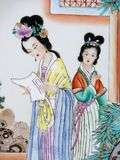 Pintura chinesa antiga Fotografia de Stock Royalty Free