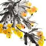 Pintura chinesa colorida ilustração stock