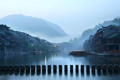 Pintura chinesa da paisagem Foto de Stock