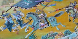 Pintura chinesa do exército chinês antigo foto de stock royalty free