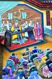 Pintura chinesa do imperador chinês antigo foto de stock