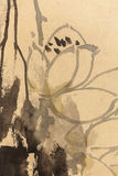 Pintura chinesa no papel, local fotografia de stock royalty free