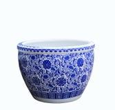 Pintura chinesa velha do estilo do teste padrão de flores na bacia cerâmica, imagens de stock