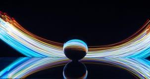 Pintura clara com bola de cristal imagens de stock