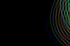 Pintura clara Exposição longa abstrata, futurista, colorida, bl Imagem de Stock