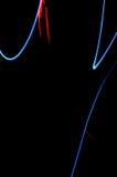 Pintura clara Exposição longa abstrata, futurista, colorida, bl Imagens de Stock