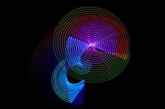 Pintura clara Exposição longa abstrata, futurista, colorida, bl Foto de Stock