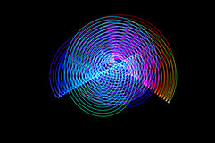 Pintura clara Exposição longa abstrata, futurista, colorida, bl Foto de Stock Royalty Free