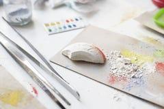 Pintura coloreada de los pigmentos Fotografía de archivo