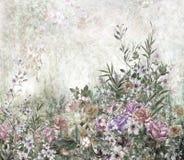 Pintura colorida abstracta de la acuarela de las flores Primavera multicolora Fotografía de archivo libre de regalías