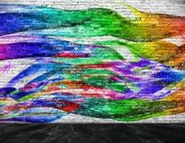 Pintura colorida abstrata com primeiro plano ilustração stock