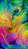 Pintura colorida accidental Ilustración del Vector