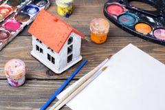 Pintura colorida, aguazo, acuarela Fotos de archivo libres de regalías