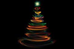 Pintura colorida da luz da árvore de Natal foto de stock royalty free