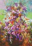 Pintura colorida de las flores Foto de archivo libre de regalías