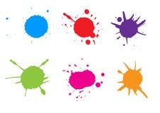 A pintura colorida do vetor chapinha Pinte o jogo do respingo Illustrat do vetor Foto de Stock