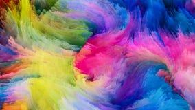 Pintura colorida e além ilustração royalty free