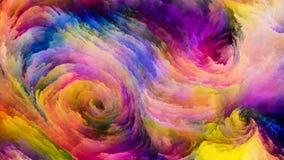 Pintura colorida em desenvolvimento ilustração stock