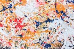 Pintura colorida en el fondo de madera Imágenes de archivo libres de regalías