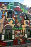 Pintura colorida en la pared Fotografía de archivo libre de regalías
