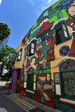 Pintura colorida en la pared Fotos de archivo