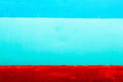 Pintura colorida en la superficie de acero Imagen de archivo