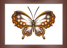 Pintura com borboletas Foto de Stock