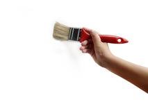 Pintura con el cepillo Imagenes de archivo