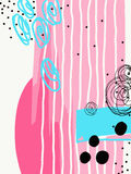 Pintura contemporánea digital abstracta moderna en inconformista de moda stock de ilustración