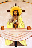 Pintura cristiana del monasterio de Latrun Foto de archivo
