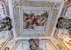Pintura cristiana religiosa ortodoxa del icono en el tejado de la iglesia Imágenes de archivo libres de regalías