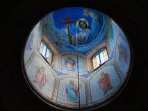 Pintura da abóbada em Christian Orthodox Church fotografia de stock