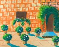 Pintura da aguarela das flores Imagens de Stock