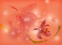 Pintura da aguarela - orquídea ilustração royalty free