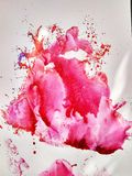 A pintura da aquarela da cor da textura imprime e espirra imagem de stock