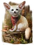 Pintura da aquarela de Fenech Imagem de Stock Royalty Free