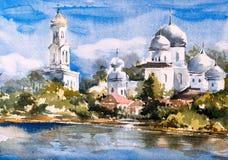 Pintura da aquarela - Istambul ilustração royalty free