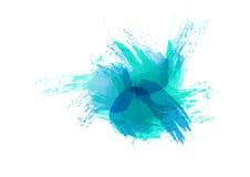 Pintura da arte abstrato da cor de água Foto de Stock