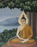 Pintura da arte da paz de Buddha Fotografia de Stock