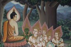 Pintura da arte da paz de Buddha Foto de Stock