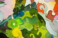 Pintura da arte e da colagem e sumário e cor Imagem de Stock Royalty Free