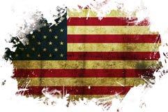 Pintura da bandeira dos EUA Fotos de Stock